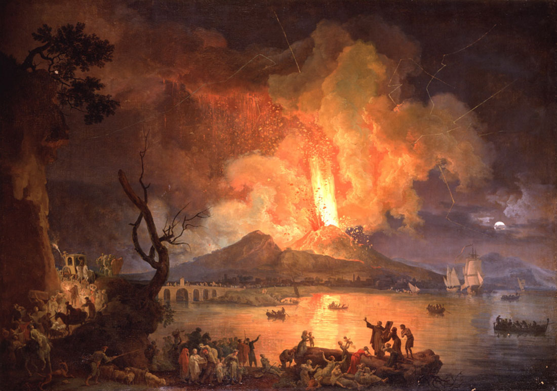 Eruption of Mount Vesuvius with the Ponte della Maddalena in the Distance -  Seeing Nature